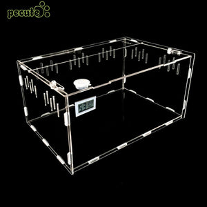 Transparent Portable Practical Reptile Box Reptile Terrarium Pet Box Pet Breeding Box Pet Supplies