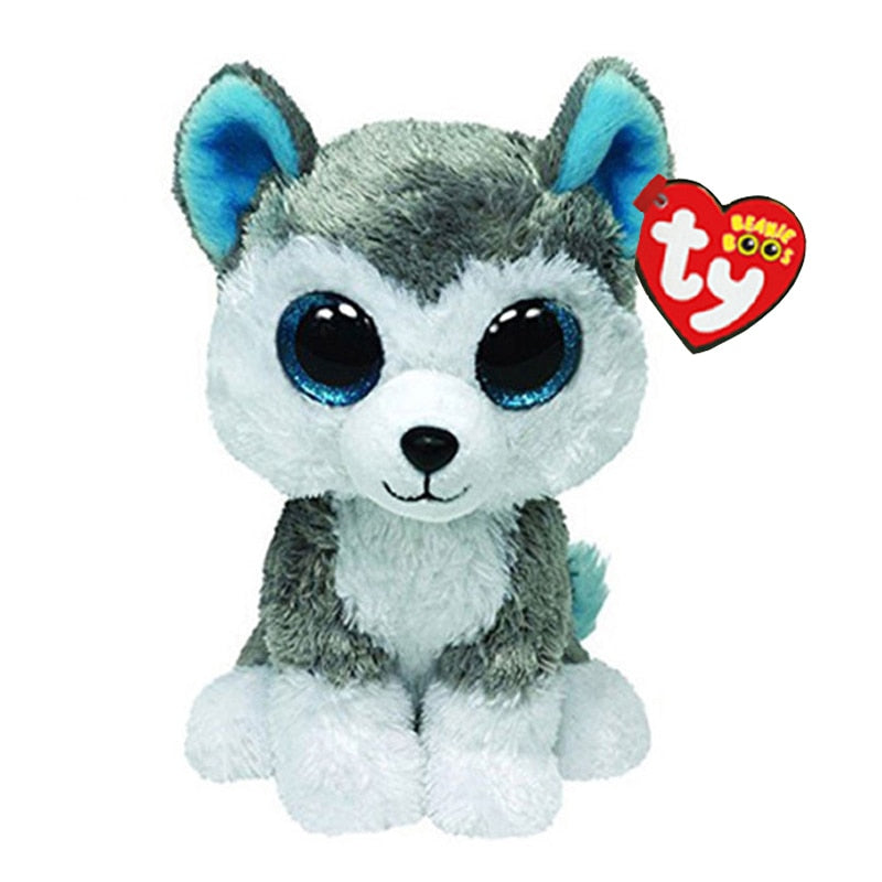 Ty Beanie Boos Stuffed & Plush Animals Husky Dog Toy Doll With Tag 6  15cm