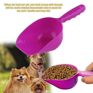 Useful Plastic Hand Shovel Pet Puppy Dry Food Spoon Pets Feed Measuring Scoop For Dog Cat Bird Seed HG99