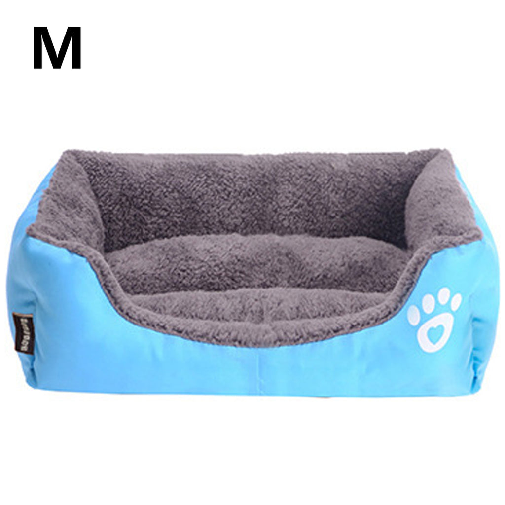Warm Kennel For Cat Puppy Bed For Dog Cat Pet Dog Beds Sofas Warming Dog Footprint House Soft Ne Dog Baskets Fall and Winter