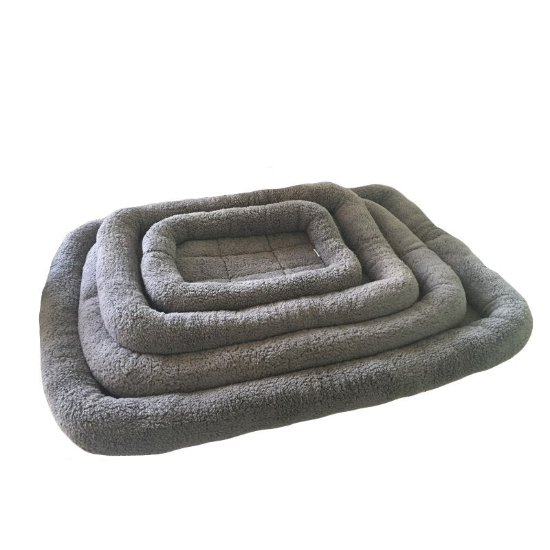 Warm Pet Dog Bed Soft Fleece Cats Mat Sleeping Cushion for Small Medium Large Big Dogs Comfortable Cat Ne Bed Dropshipping