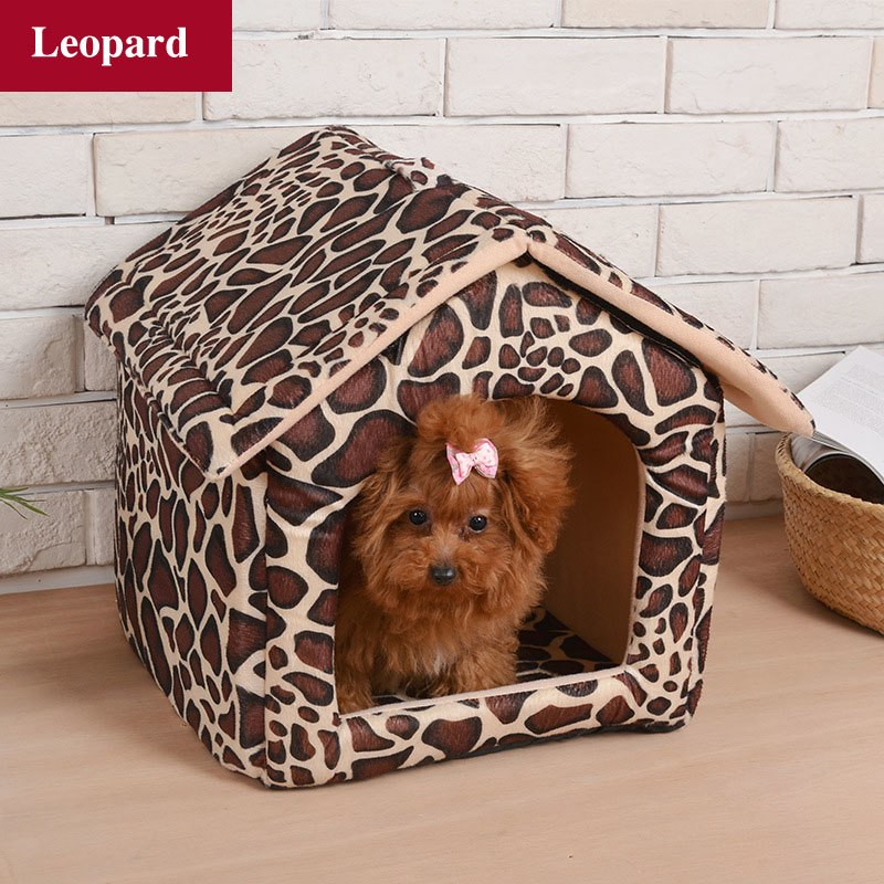 Warm Pet Dog House Bed for Small Dogs Removable Covered Dog Cage Puppy Tent Cat Home Pets Supplies Chihuahua Pug kennel Dog Beds