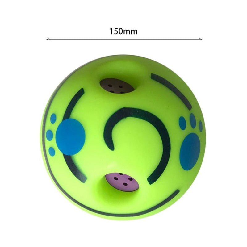 Wobble Wag Giggle Ball Dog Sound Toy Pet Toys Silicon Jumping Interactive Dog Toys For Large Dogs Giggle Ball Safe Training E