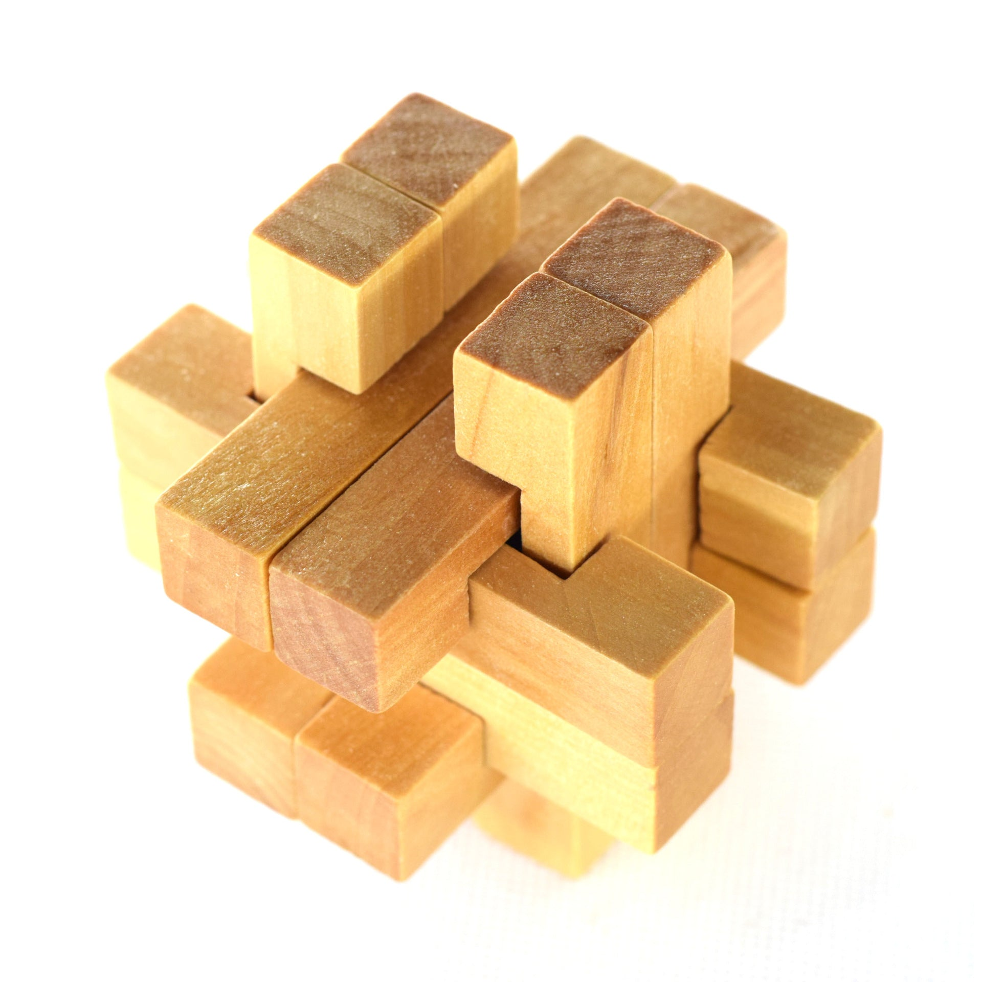 Wooden Puzzle CubeTaking the Ball Out Educational Toy Kong Ming Luban Lock for Adult Children Kids Puzzles Brain Training Toy