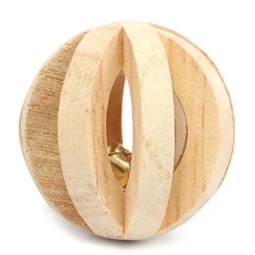 Wooden Small Pet Toys Pine Unicycle Roller Chew for Guinea Pigs Rat Rabbits