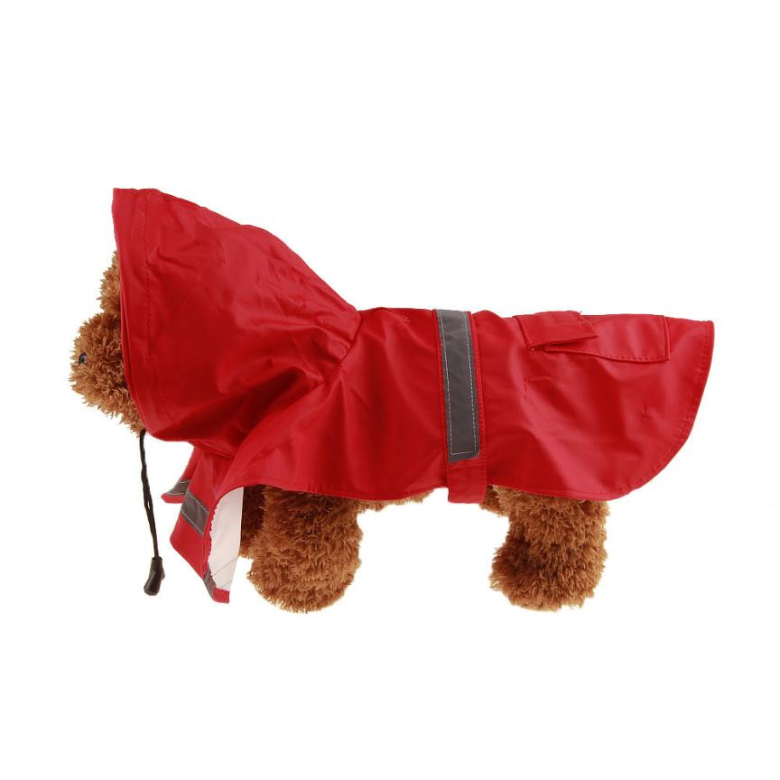 XS~XXL Pet Dog Raincoat Clothes Waterproof Outdoor Waterproof Hooded Rain Coat Jacket 6 Colors Dog Clothes roupa cachorro EY11