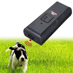 bark control electronic dog repeller ultrasonic Black Aggressive anti Dog Pet banish Repeller Train Stop Barking Training