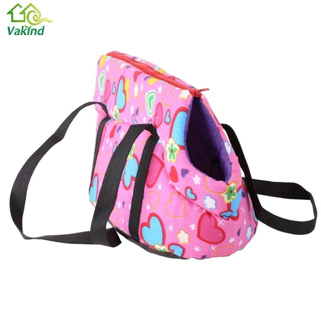 Floral Print Pet Dog Carriers Canvas Shoulder Bag for Small Dog Cats Pet Animal Outdoor Travel Carrier Dog Products