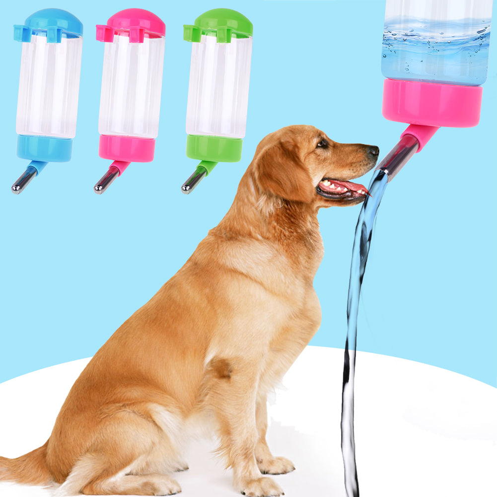 300ML Plastic Pet Feeder Automatic Dog Water Bottle Dispenser Hanging Water Bottle for Dogs Cats Pet Dog Accessories
