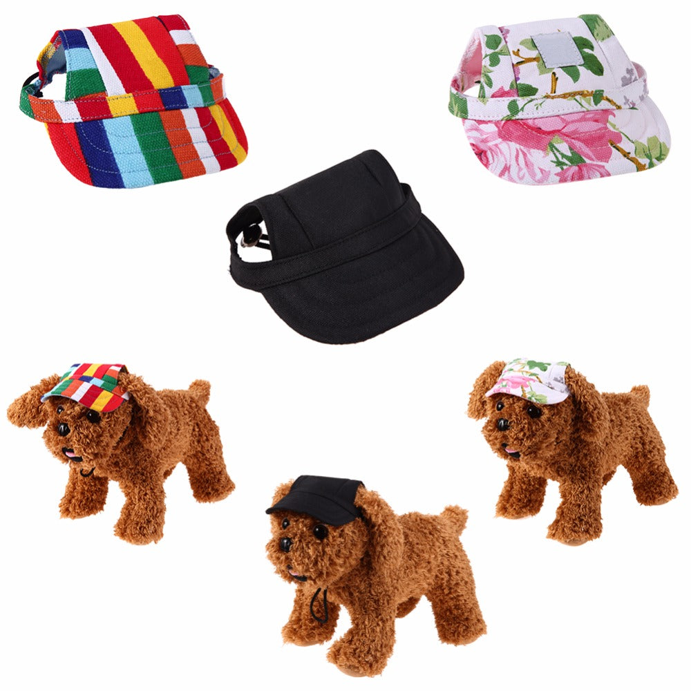 Pet Dog Hat Summer Canvas Dog Baseball Hat Cap Only For Small Dog Puppies  Yorkshire Outdoor Accessories Pet Products