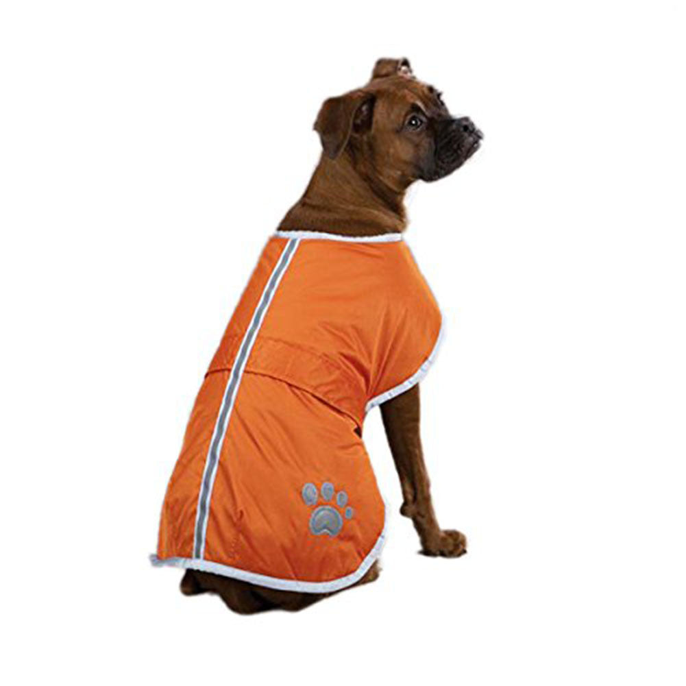 Waterproof Dog Coat Quilted Reflective Cloak Soft Cozy Outdoor Raincoat Blanket Coat