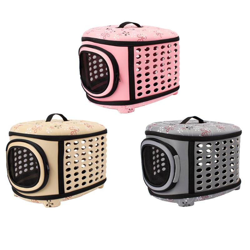 Portable EVA Dog Cat Carrier Foldable Outdoor Travel Shoulder Bag for Small Medium Dog Pet Bag Soft Dog Kennel Cage