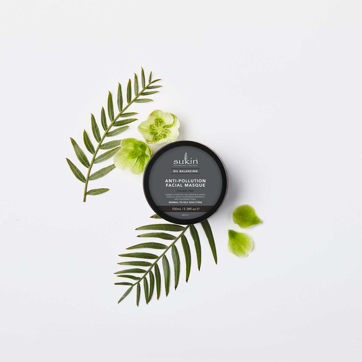 Sukin Natural Anti-Pollution Facial Masque | Oil Balancing 100ml