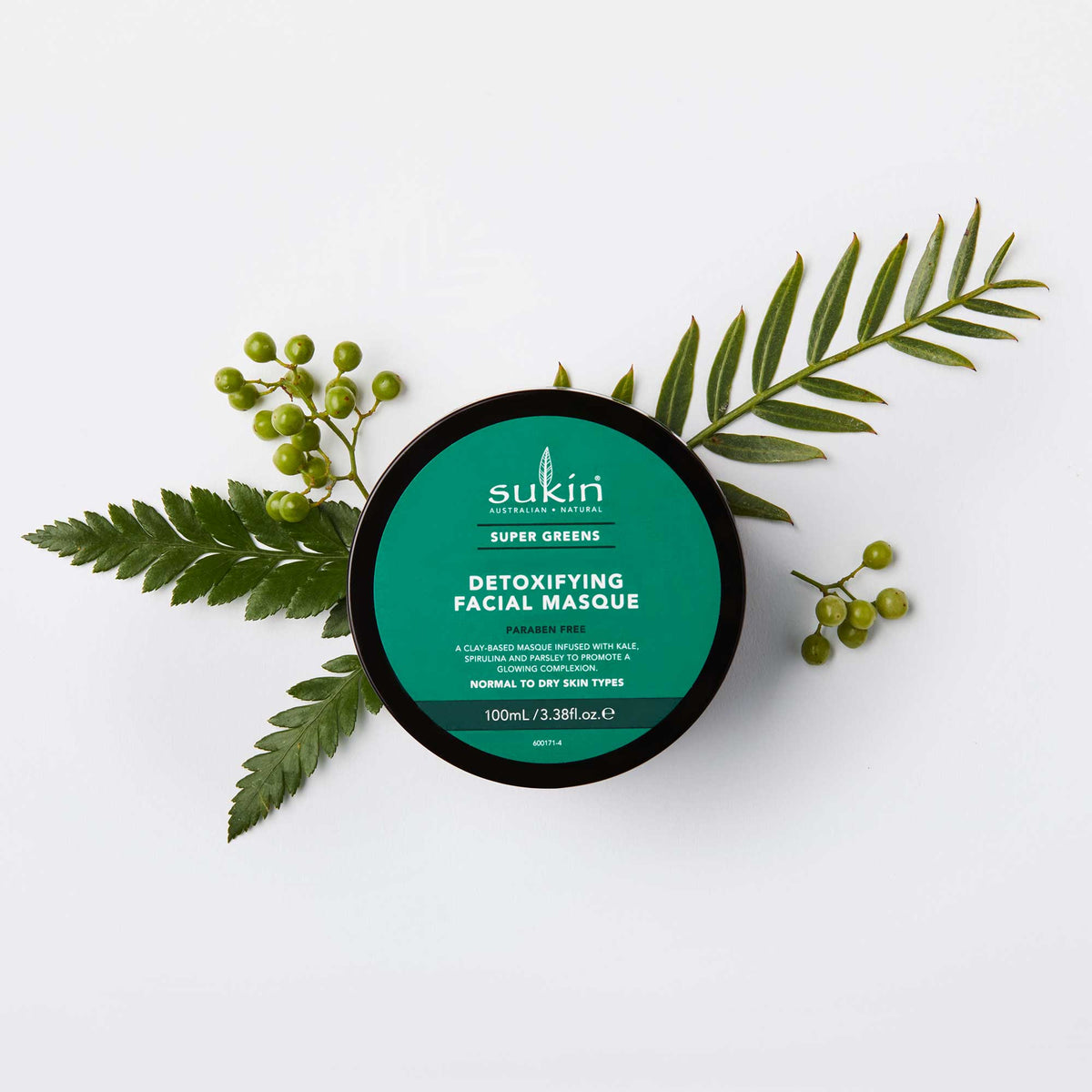 Sukin Natural Detoxifying Clay Masque | Super Greens 100ml