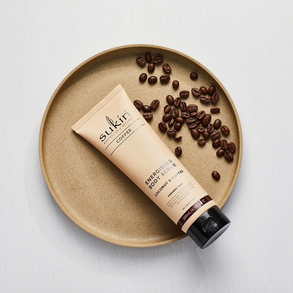 Sukin Natural Energizing Body Scrub | Coffee & Coconut 200ml