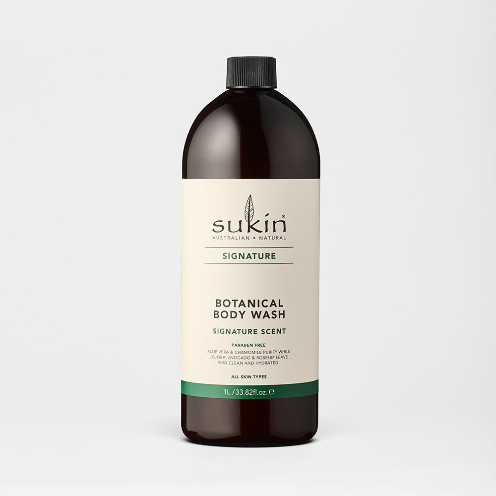 Sukin Natural Botanical Body Wash Refill | Signature 1L