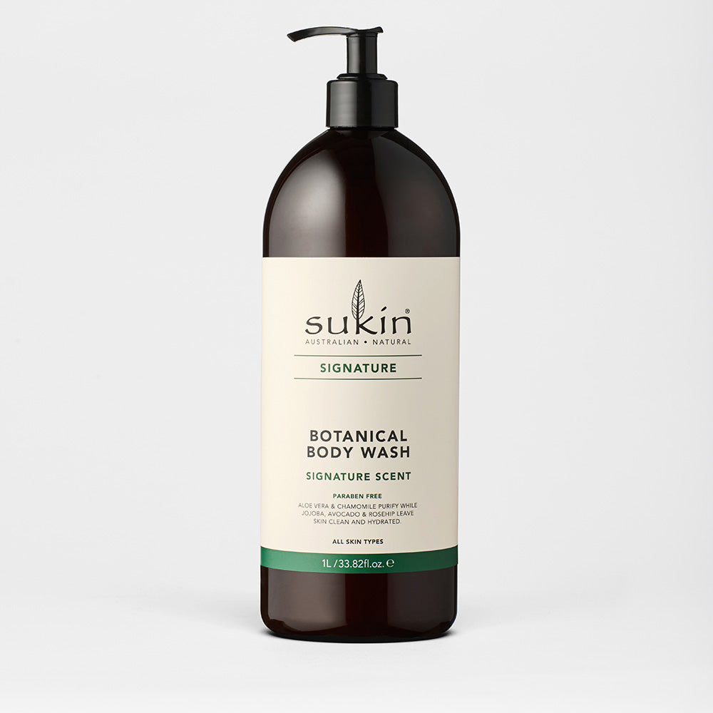 Sukin Natural Botanical Body Wash | Signature 1L