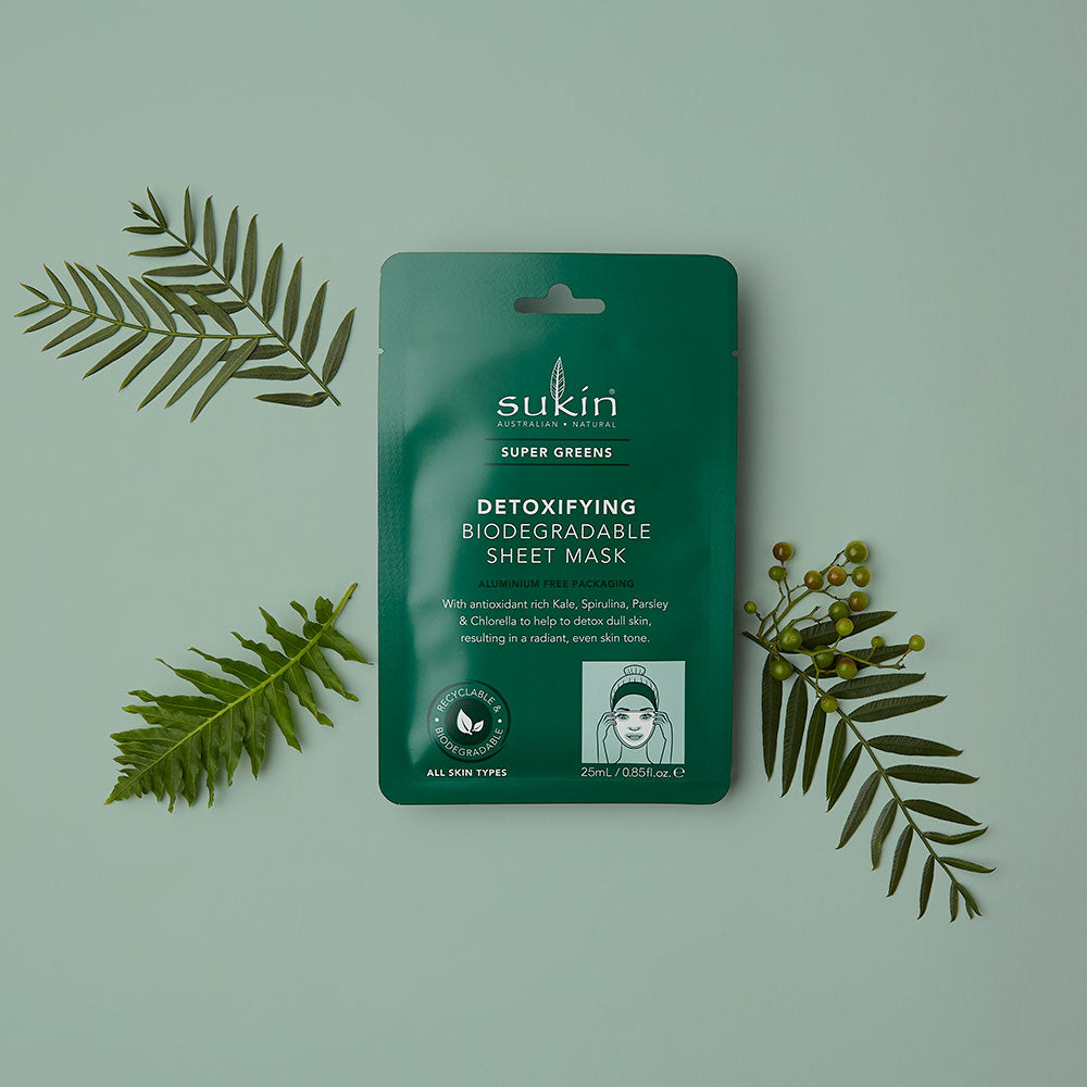 Detoxifying Biodegradable Sheet Mask | Super Greens 25ml