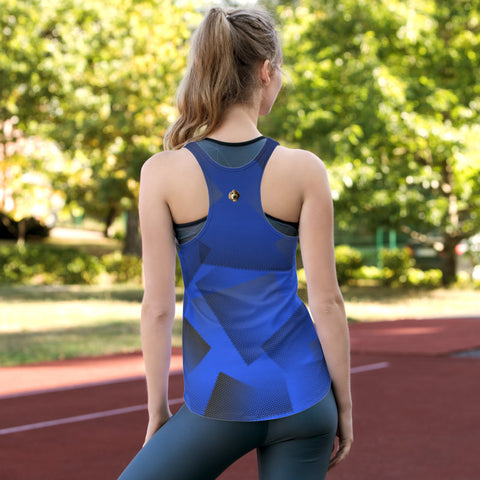 Blue-Hex Racerback Tank Top