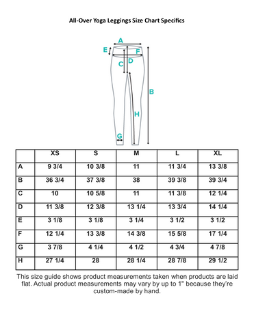 Leggings Size Guides