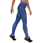 Blue-Hex Yoga Leggings