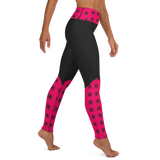 Pink Checkered Yoga Leggings