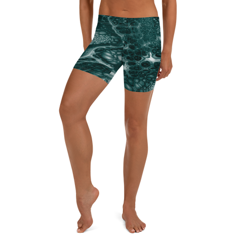 Coral Fitness Shorts - Green
