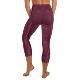 high waist, custom elephant design, maroon, compression, yoga leggings