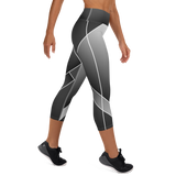 Charcoal Fade-2-Flex Yoga Capri Leggings