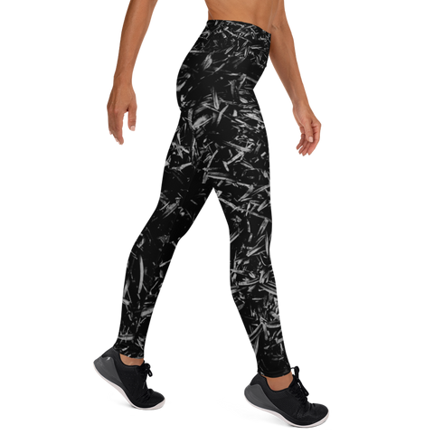 Splatter Leggings - Black and White