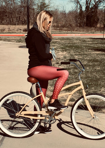 Maroon Hex-a-Flex Leggings