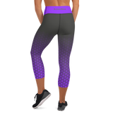 Lavender & Gray Hex-a-Flex Capri Leggings