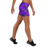 Purple Camo Fitness Shorts