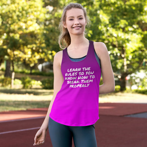 """Break The Rules"" Racerback Tank Top"