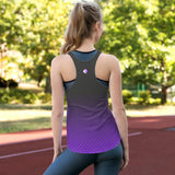 Lavender & Gray Hex-a-Flex Tank Top