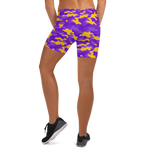 Purple & Gold Camo Fitness Shorts