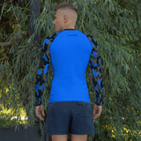 Neon Blue Camo Rash Guard