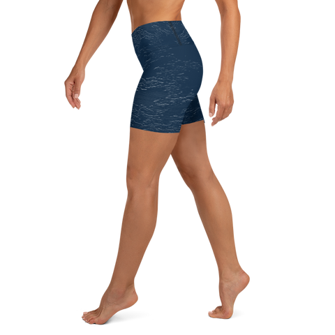 Mars Yoga Shorts - Navy