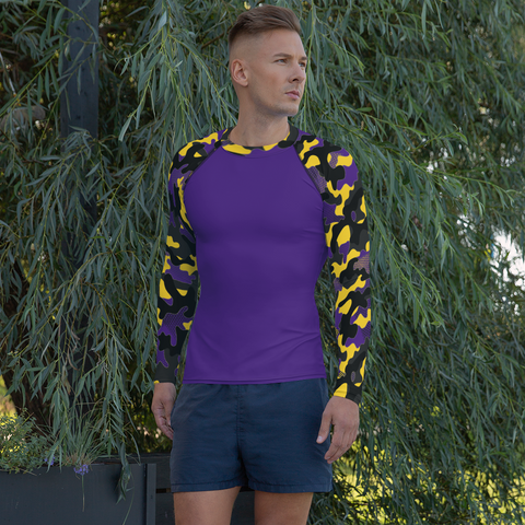 Purple Camo Rash Guard