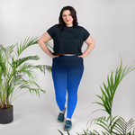 Midnight Fade Plus Size Leggings