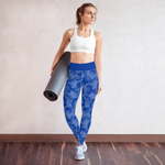 Blue Camo Running Leggings