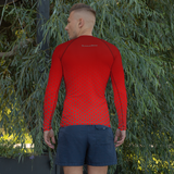 Men's Red Hex-a-Flex Rash Guard