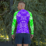Splash Rash Guard - Purple & Green