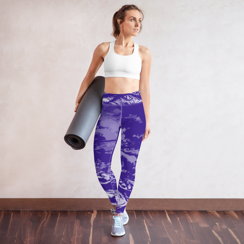 Purple Wave Yoga Leggings