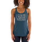 """BURPEES CONQUERED"" Free Flow Racerback"