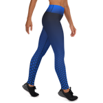 Blue Hex-a-Flex Yoga Leggings