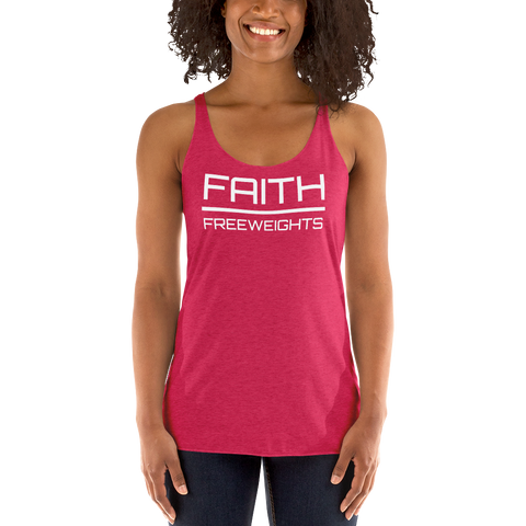 black woman in red, faith, motivational, workout, racerback tank top