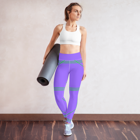BuckleyBear Tri-Line Leggings - Lavender