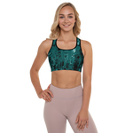 Green Acrylic II Padded Sports Bra