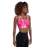 Help Fight Breast Cancer Padded Sports Bra